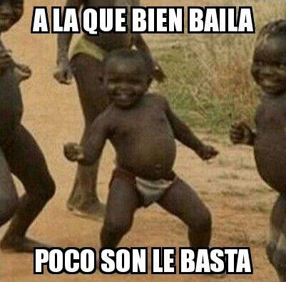"""""""A la que bien baila poco son le basta""""  significa que quien sabe bailar no necesita música. Sara Méndez López 4°ESO"""