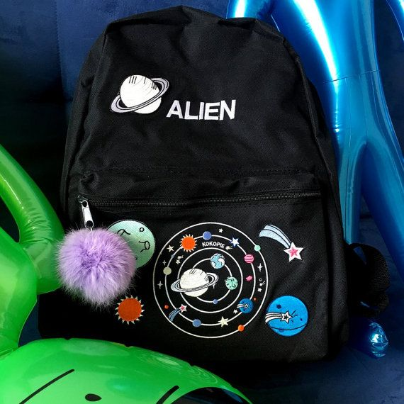 Outer space alien grunge backpack by Kokopiebrand on Etsy