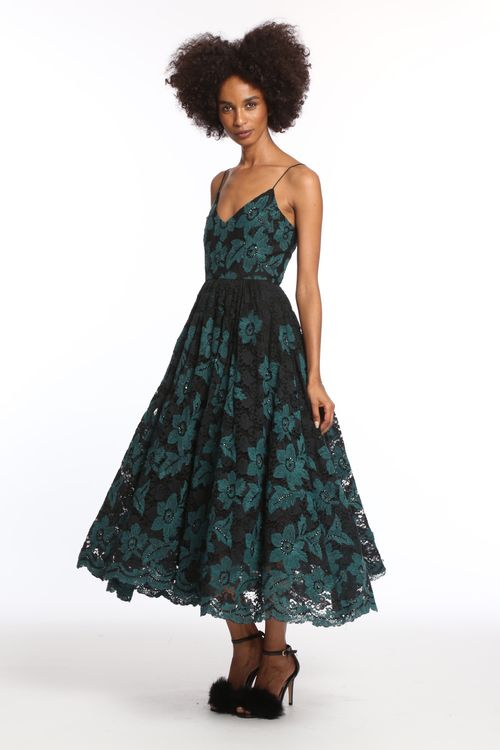Green Embroidered Ballerina Dress - Tracy Reese  a31a3e0d5