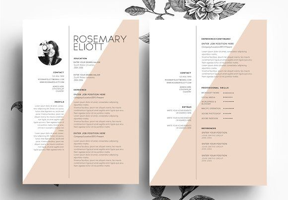 CV + Cover letter + Business card by Emily's ART Boutique on @creativemarket