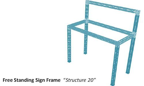 Free Standing Truss Sign Frame