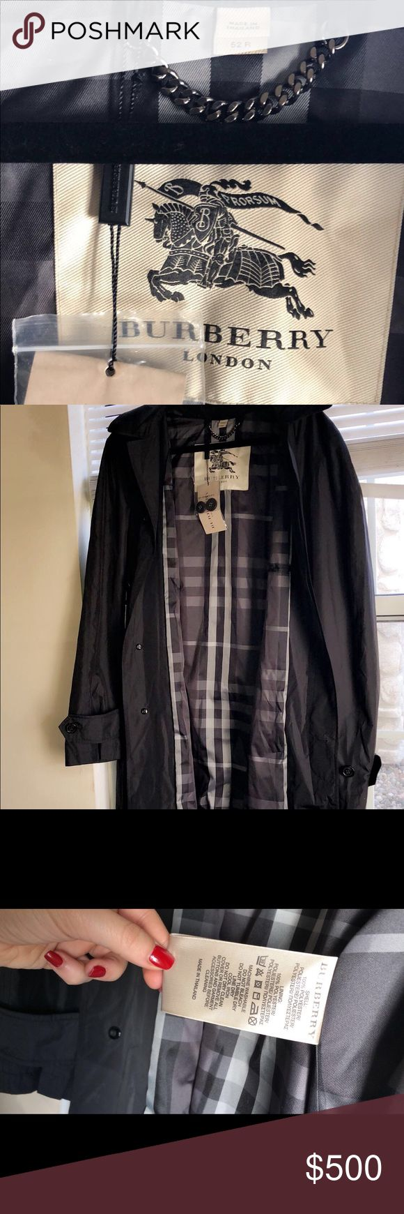 Burberry Mens Rain coat Brand new rain coat. Never worn. Comes in Burberry box. Jackets & Coats Trench Coats