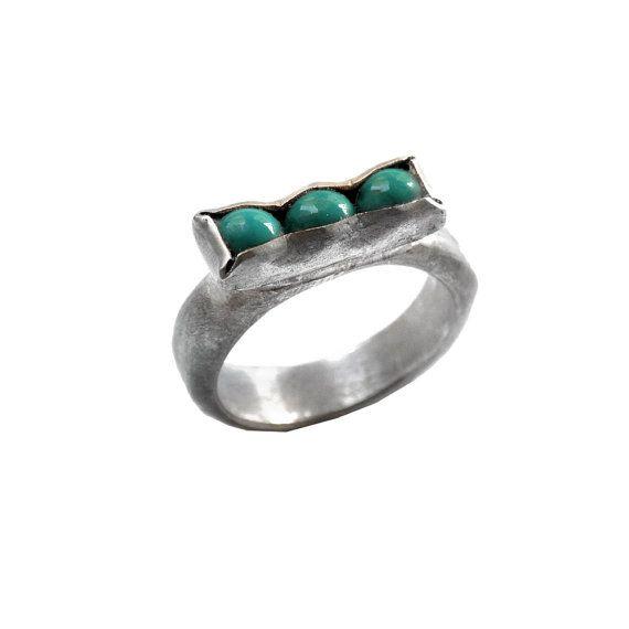 rectangle ring  geometric jewelry  pure silver by ChenFuchsJewelry, $169.00