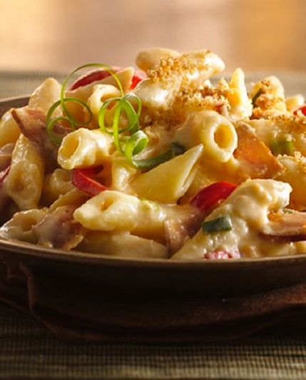 Bacon-Pepper Mac and Cheese, instant family favorite. #bacon # ...