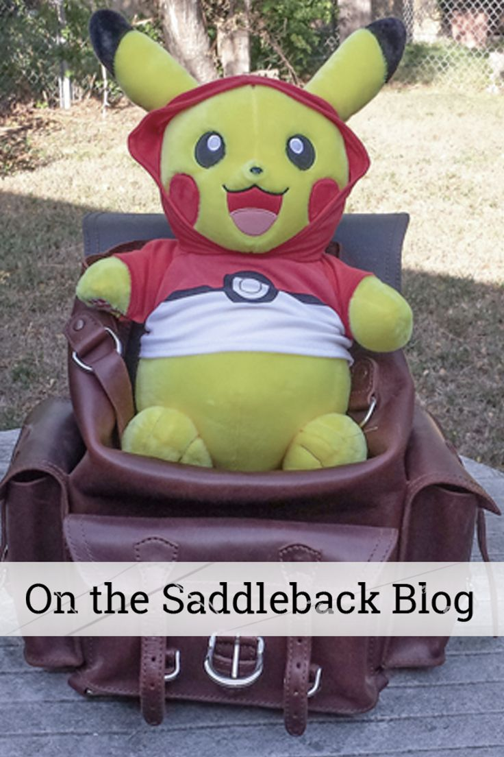 On the Saddleback Blog: Liz shares five Saddleback bags that will help get you from Pokemon Go amateur to master. Come read more.