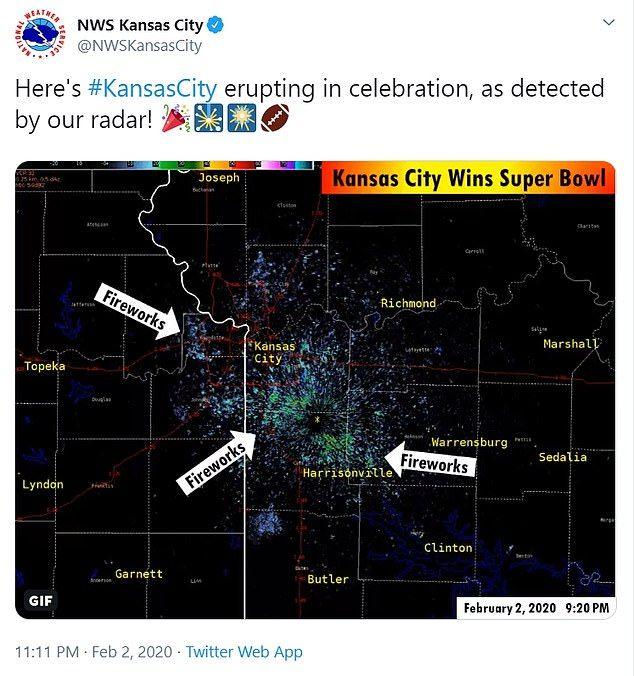 Kansas City S Super Bowl Celebration Caught On A Weather Radar In 2020 With Images Kansas City City Super Super Bowl