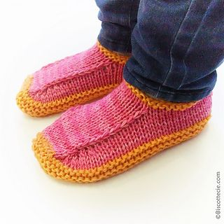 Non-Felted Slippers Biscotte's Version By Louise Robert - Free Knitted Pattern - (ravelry)
