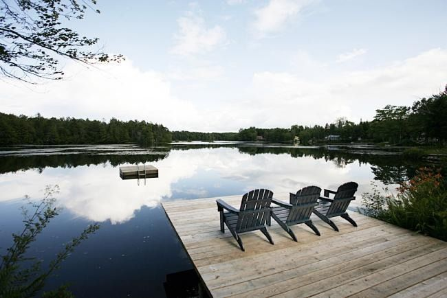 Private lake pond vacation rental home in little falls for Falls lake cabin rentals