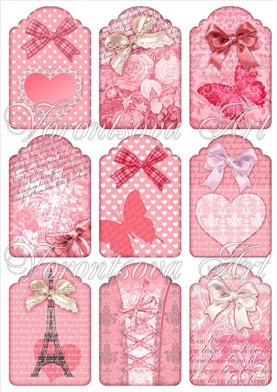Sweet French Vintage gift tags