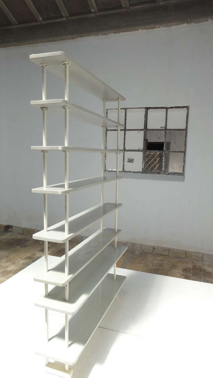 Rare Dutch 1930's 'De Stijl' Shelving Unit in the Style of Gerrit Rietveld | From a unique collection of antique and modern shelves at https://www.1stdibs.com/furniture/storage-case-pieces/shelves/