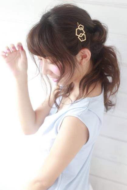 ゆるふわねじりハーフアップ   吉祥寺の美容室 BiBi のヘアスタイル ... ミルボン ニゼル ミルクリームフラッフィ ジュミエールフランスプレーSW ディーセス エルジューダエマルジョン