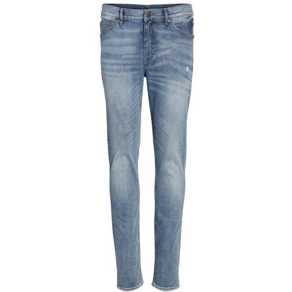 Men's Cheap Monday Sonic Skinny Fit Jeans ($70) ❤ liked on Polyvore featuring men's fashion, men's clothing, men's jeans, treble blue, mens super skinny jeans, cheap monday men's jeans, mens skinny fit jeans, mens skinny jeans and mens stretch denim jeans