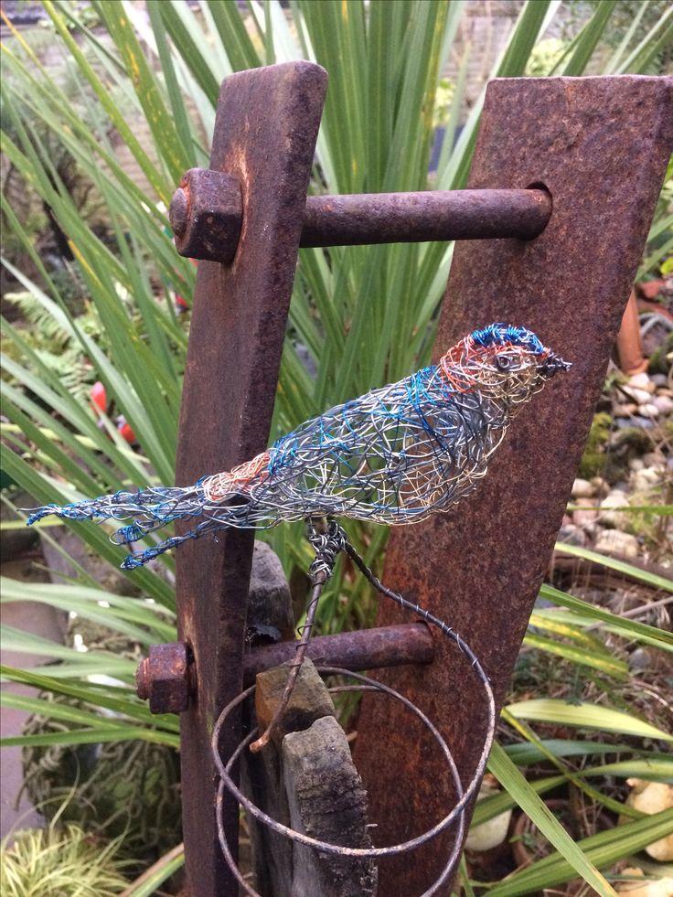 Wire Bird Sculpture Red Rumped swallow