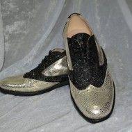 Pantofi Oxford argintii