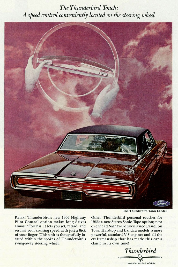 Ford thunderbird 1966 ford car brochures pinterest brochures ford thunderbird and ford