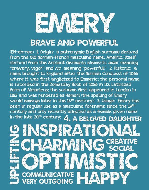 EMERY Personalized Name Print / Typography Print / by OhBabyNames