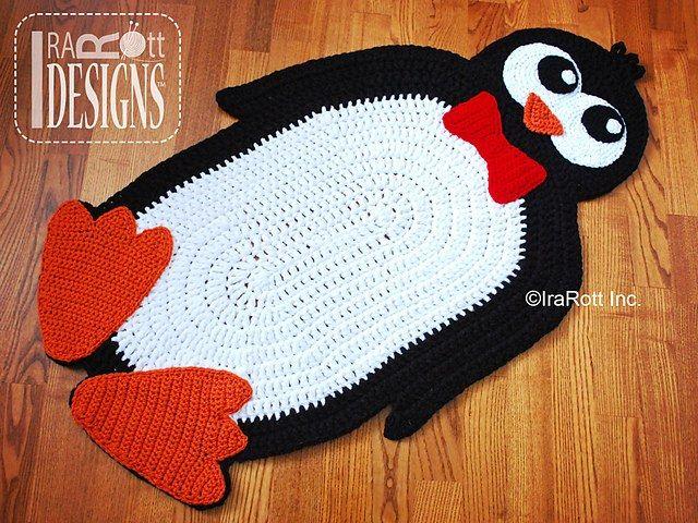 Crochet Penguin Rug Pattern