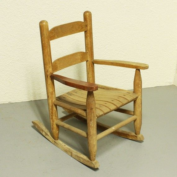 ... For Misstwito - Vintage Rocking Chair - Kids - Childs - Wood