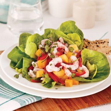Salade ceviche aux crevettes nordiques et mangue - Recettes - Cuisine et nutrition - Pratico Pratique