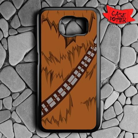 Brown Body Chewbacca Star Wars Samsung Galaxy S6 Black Case