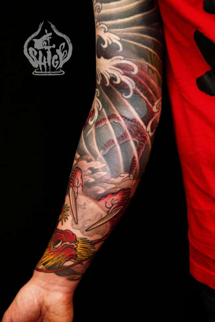 Wind water work again shige japanese tattoo for Oriental tattoo