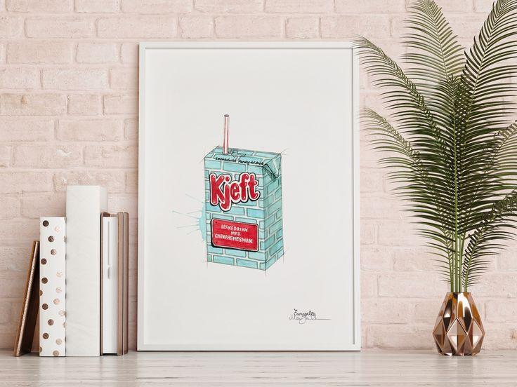 """""""Kjeft""""     Norwegian brand by illustrator/artist Mona Stenseth Erlandsen.      www.emmeselle.no"""