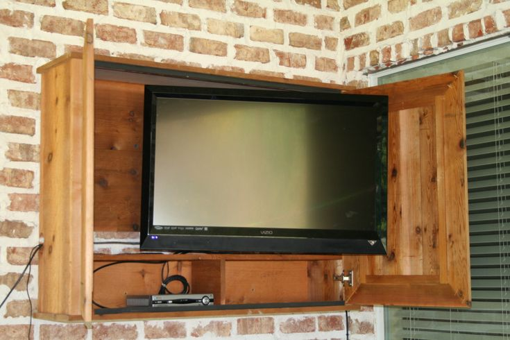 Outdoor TV cabinet for the patio!