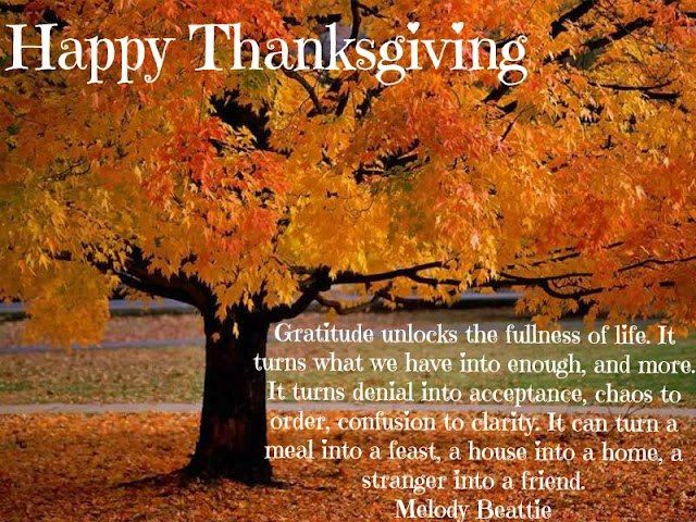 Happy Thanksgiving Inspirational Sayings