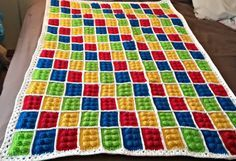 Craft-a-Boo: Crochet Lego Blanket - Free Pattern.