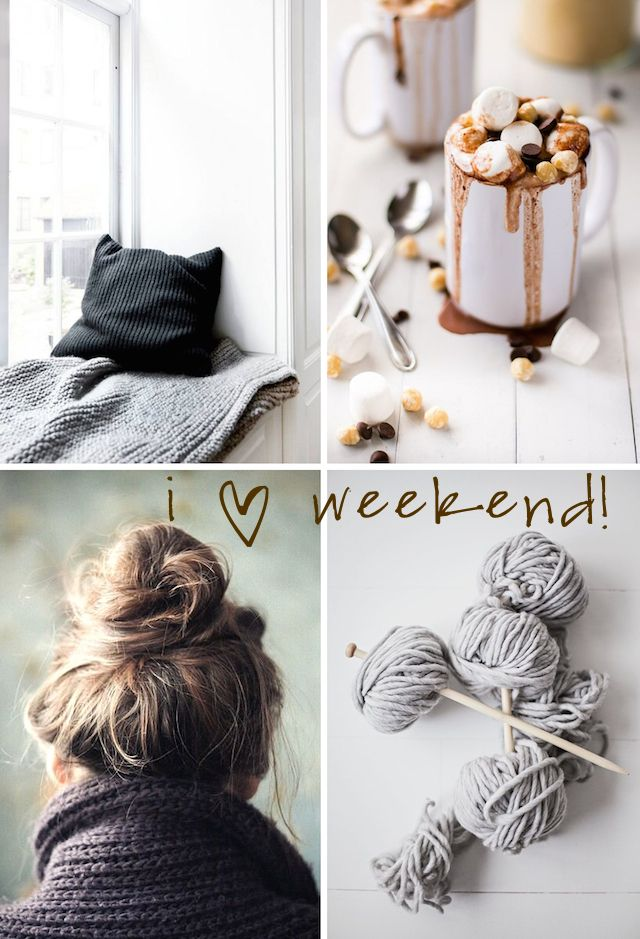 Have a great weekend everyone! This weekend, I'm craving some soft textures and feel good moments. Oh, and I'm also planning on trying this Nutella Hot Chocolate – calories don't count this weekend, haven't you heard? :-) Xo, Si-