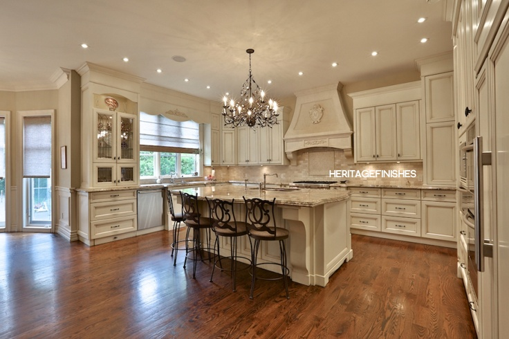 Custom Traditional Style Kitchen Cabinetry designed and built by Heritage Finishes