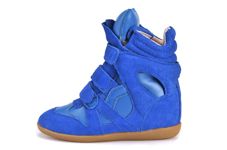 Isabel Marant Wedge Sneakers High Top Suede Leather All Blue $299.00 http://www.marantoutlet.com/cheap-isabel-marant-wedge-sneakers-high-top-suede-leather-all-blue_28.html
