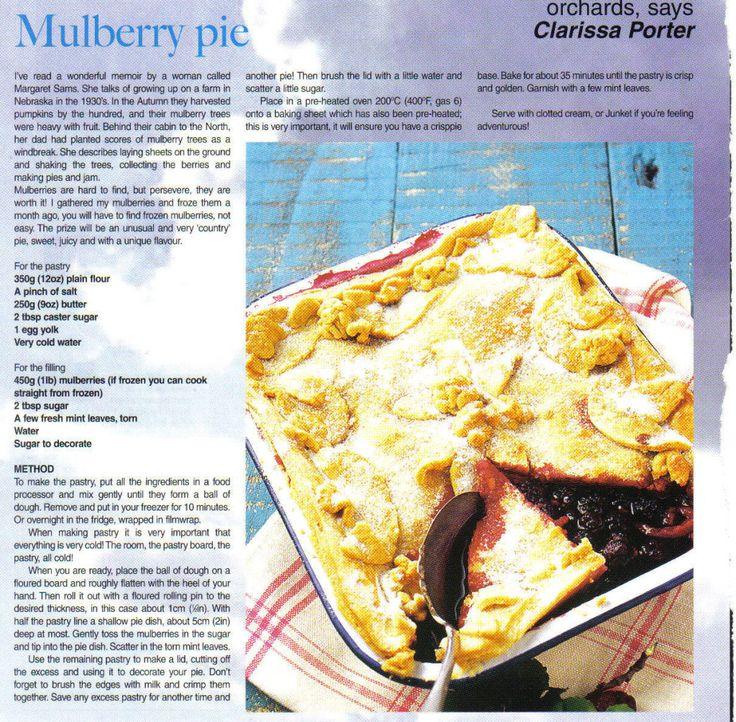Mulberry pie (magazine scan)