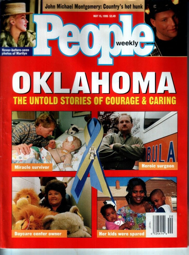 People Magazine May 15 1995 Oklahoma City Bombing Timothy McVeigh Marilyn Monroe |