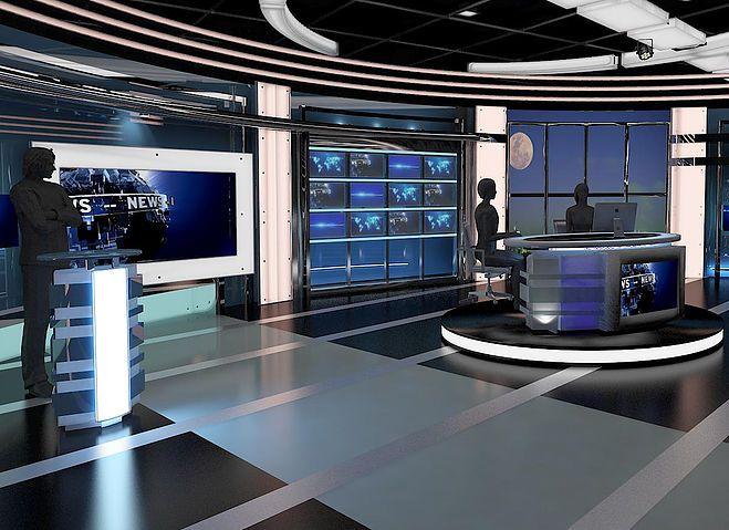 European News Studio 3d Max