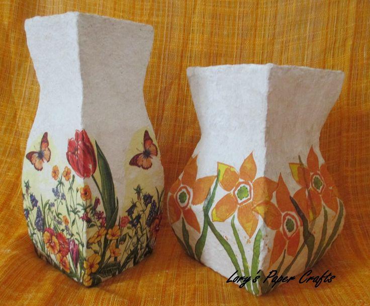 Tetra pack - Papier mache - Paper clay - Decoupage