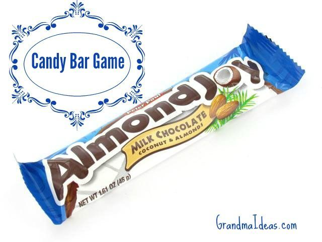 This candy bar game is a great party game -- for after Thanksgiving dinner, at a Christmas party, New Year's Eve, or birthday party!   GrandmaIdeas.com