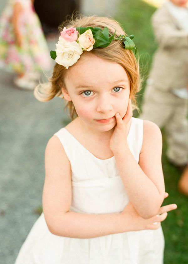 flower girl flower crowns.  *Time to blossom