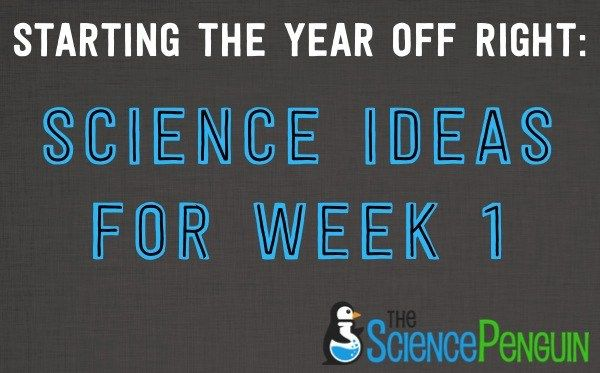 First Week Science Ideas