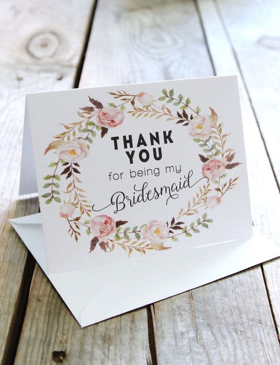 Wedding Gift Card Thank You : Thank You Cards on Pinterest Budget bridesmaid gifts, Wedding thank ...