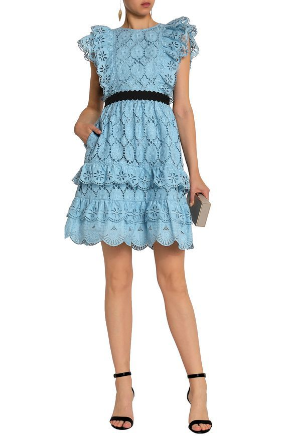fb455103 Ruffle-trimmed embroidered cotton dress | PERSEVERANCE | Sale up to 70% off  | THE OUTNET