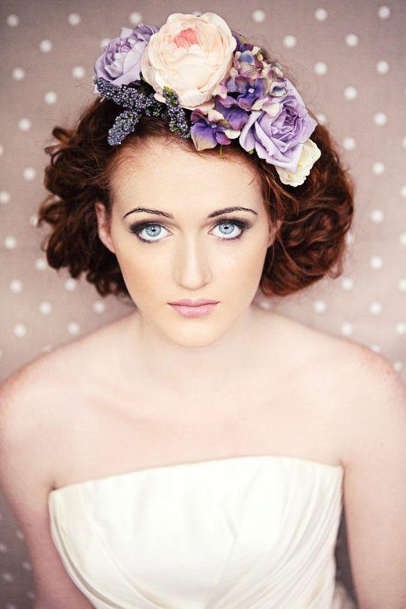 Lavender Flower Crown Headband by GypsyRVintage on Etsy