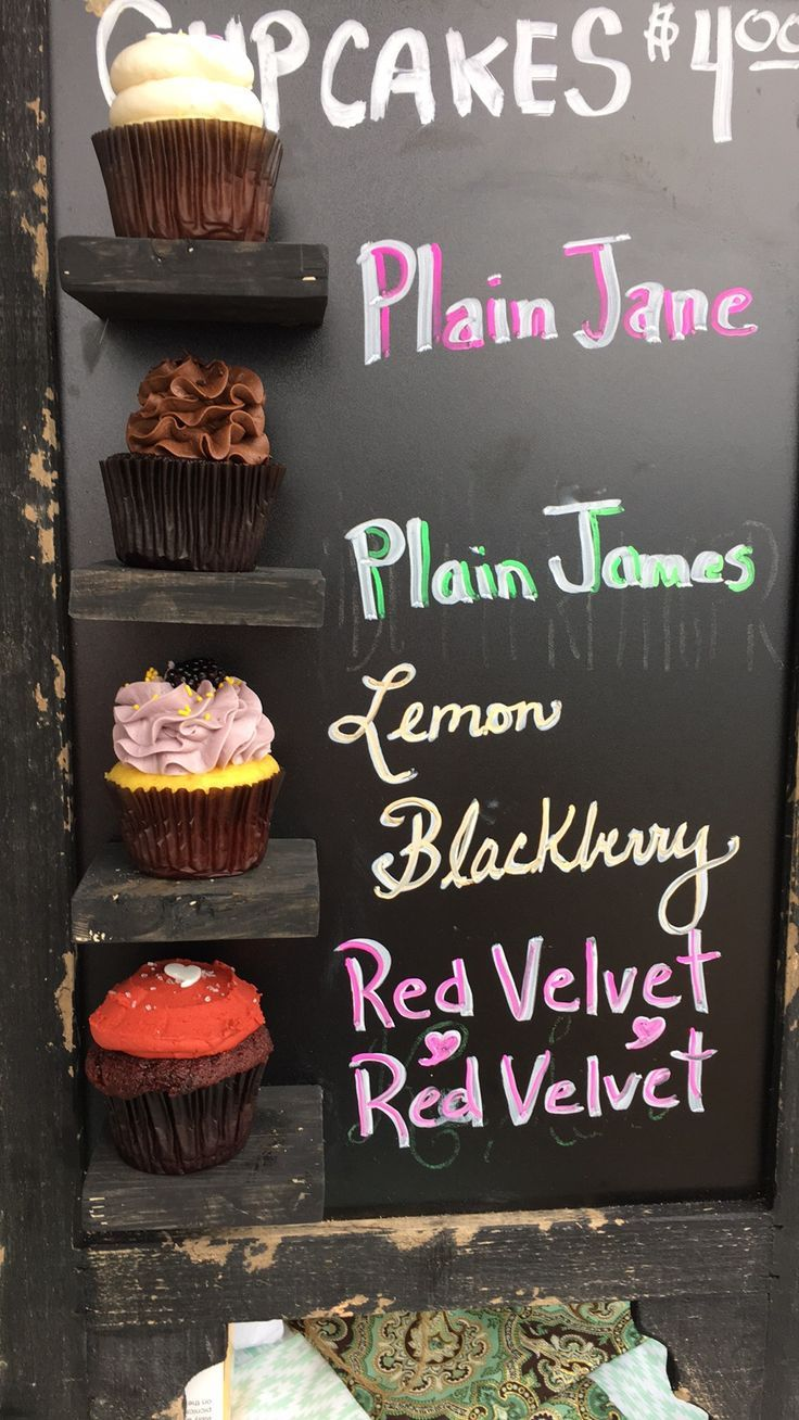 Cupcake display for the Rosemary Beach Farmer's Market!