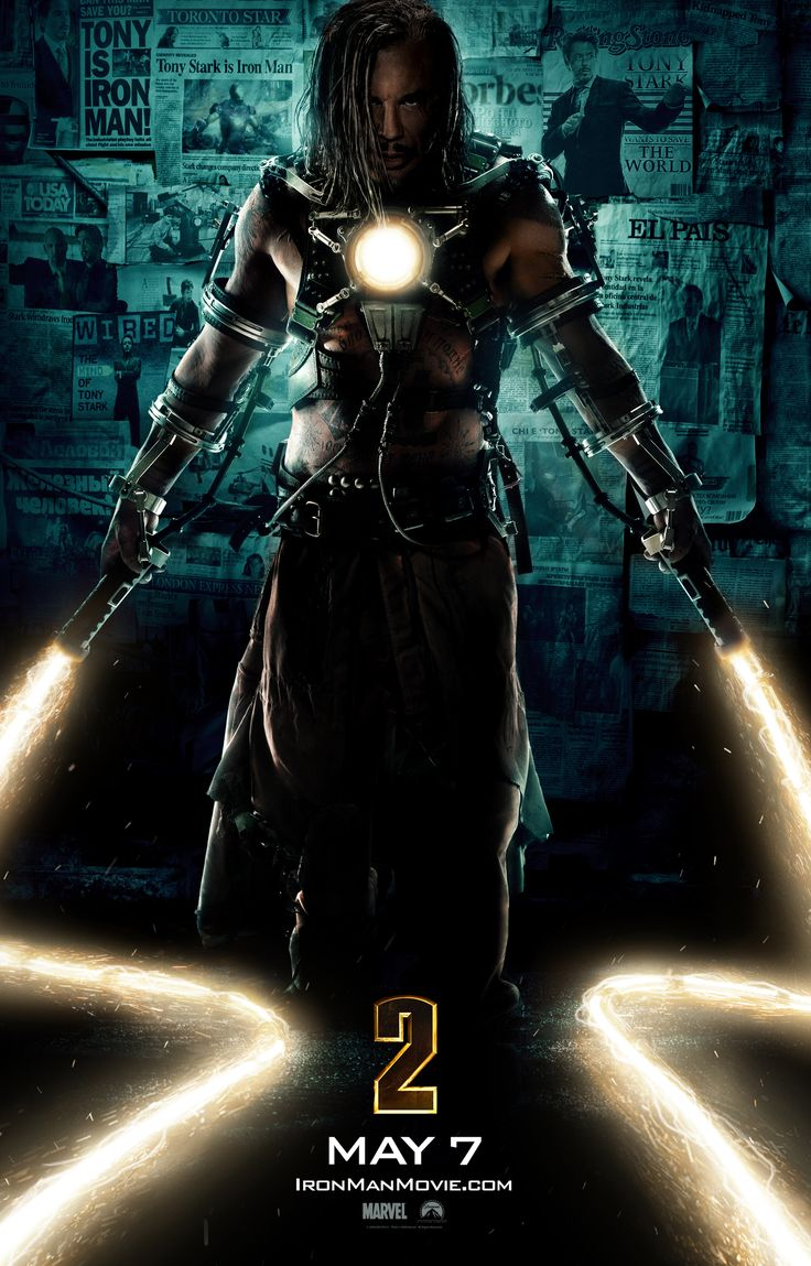 Ivan Vanko is a combination of Iron Man's enemies the Crimson Dynamo (can control electricity) and the supervillain Whiplash (razor/acid whip). In addition, the character is portrayed as the son of Anton Vanko, who was the original Crimson Dynamo in the comics.