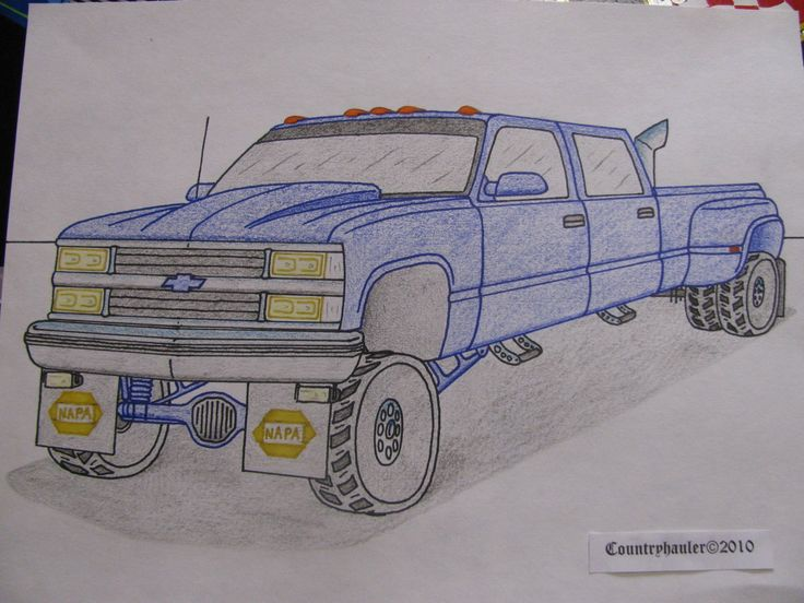 Dually Truck Jacked Up Old Chevy