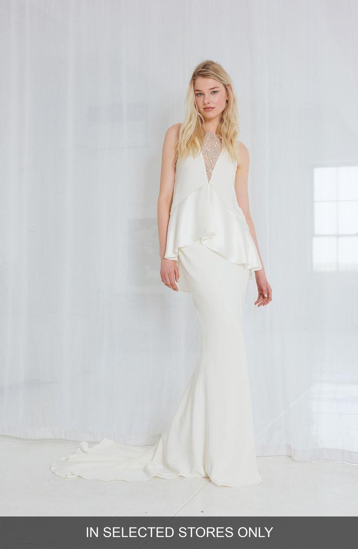 Buy AMSALE Sia Satin Two-Piece Gown online. [$4700]?@ 1newuspro