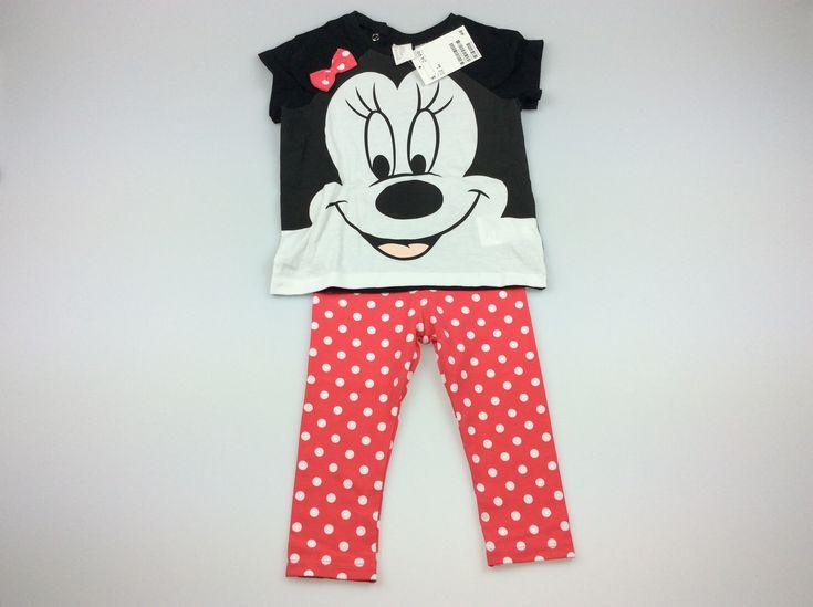 H&M, Set: T-shirt and leggings, BNWT, size 1, $12 (RRP $24.99) #kidsfashion #babyfashion #girlsfashion #minniemouse #disney #hm #daisychainclothing