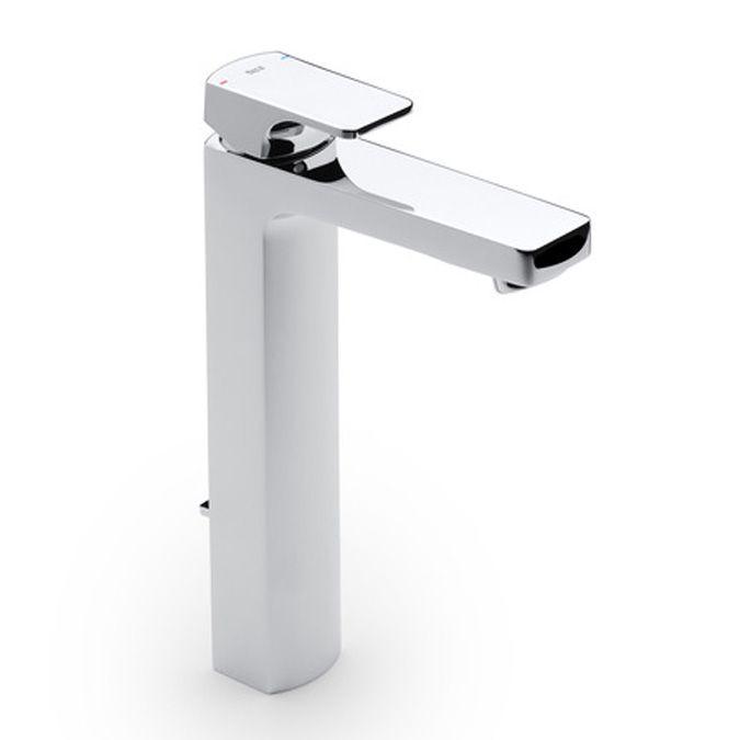 Roca L90 Mezclador para lavabo de caño alto con desagüe automático   http://www.edenhogar.com/es/monomandos-lavabo/roca-l90-grifo-lavabo-ca%C3%B1o-alto-5a3401c00.html