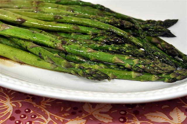 Roasted Asparagus with Browned Butter, Balsamic Vinegar and Soy Sauce ...