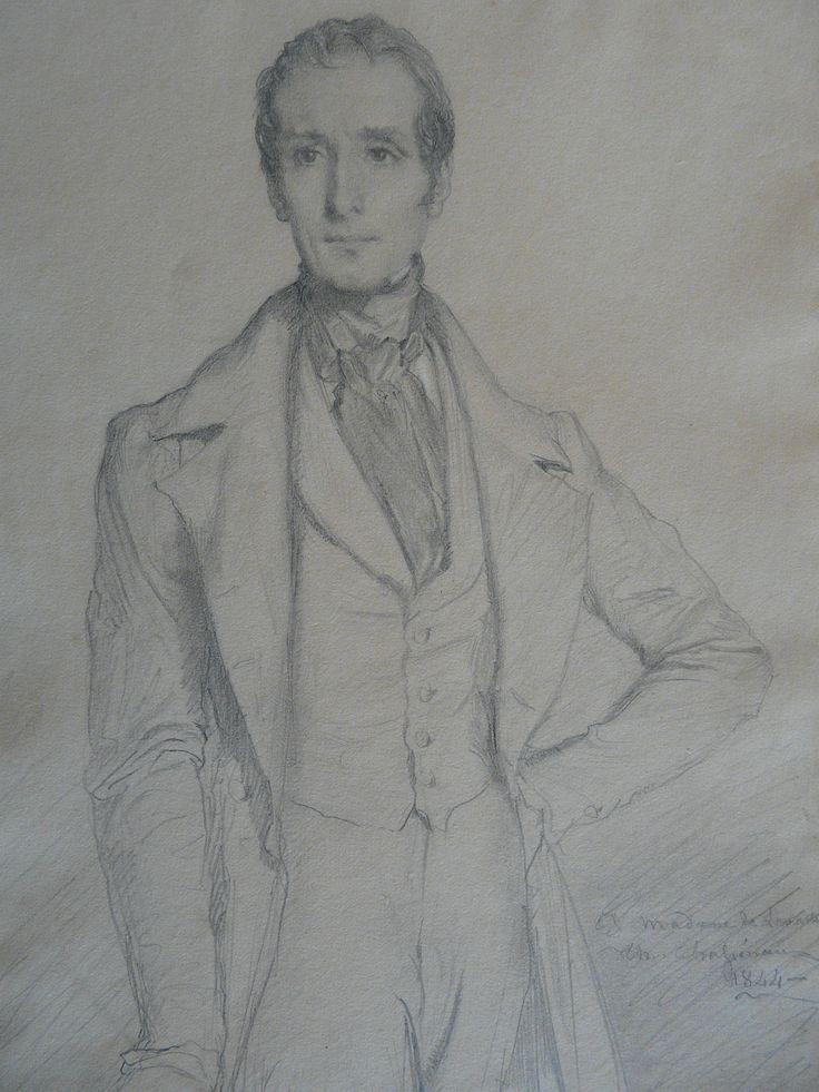 CHASSERIAU Théodore,1844 - Portrait de Lamartine - drawing - Détail 06